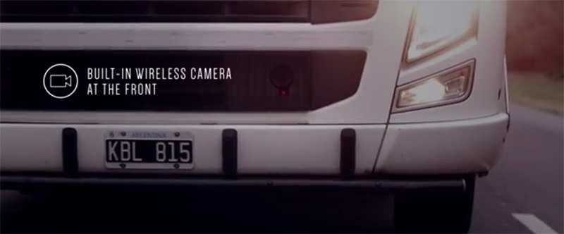 Camera at the front of the truck