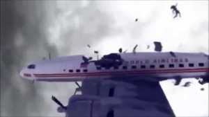 Crash of two airplanes