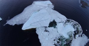 Destroying of an iceberg