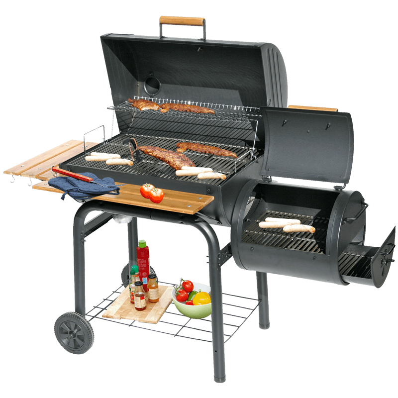 set   charcoal grill  smoking  grilling