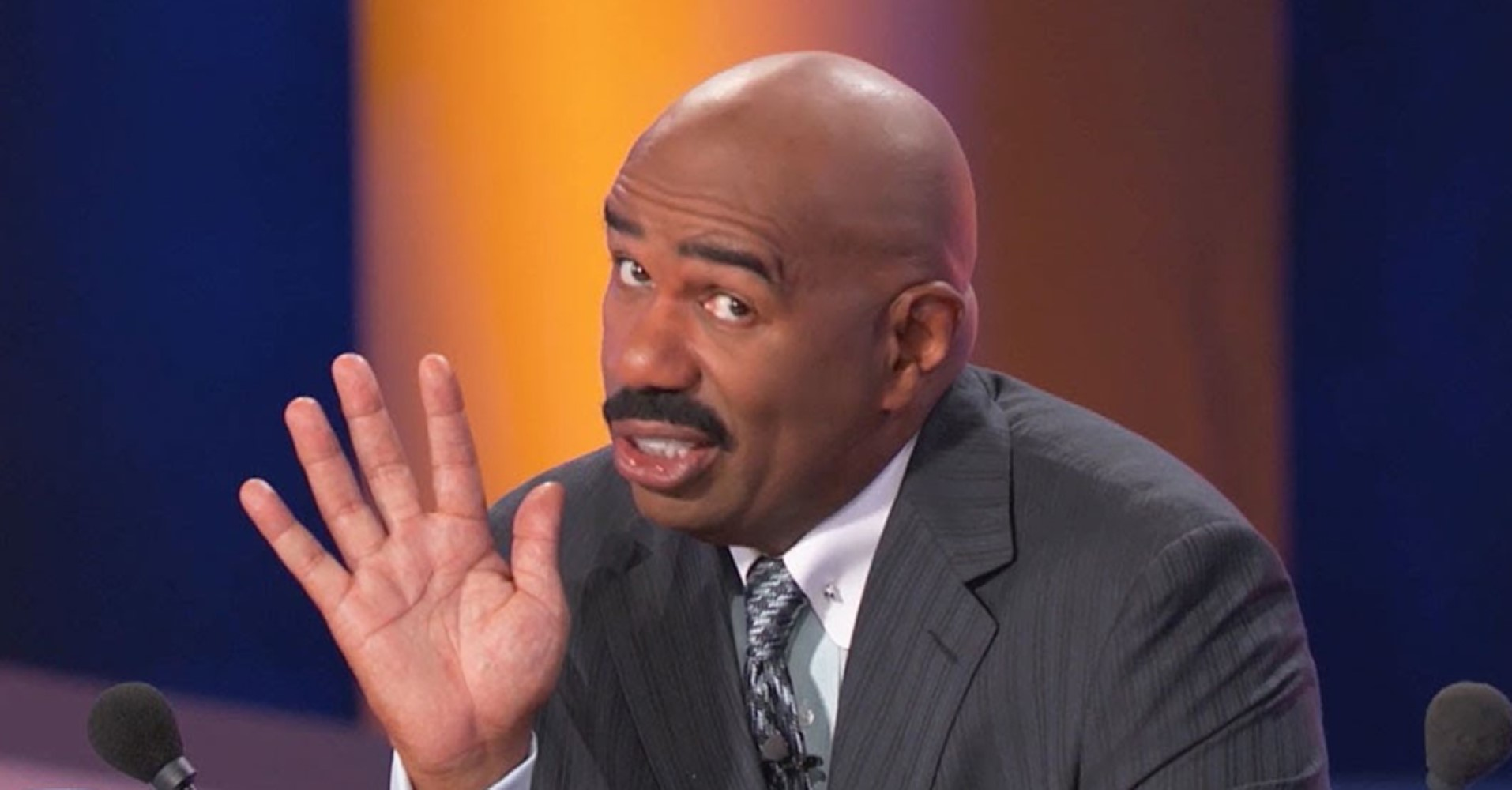 "10 Times Steve Harvey's Soul Collapsed On ""Family Feud"""