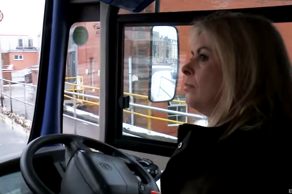 During a frigid ice storm, snowbound Scotland needed a hero. And they found one in Edinburgh bus driver Charmaine Laurie (shown in photo).