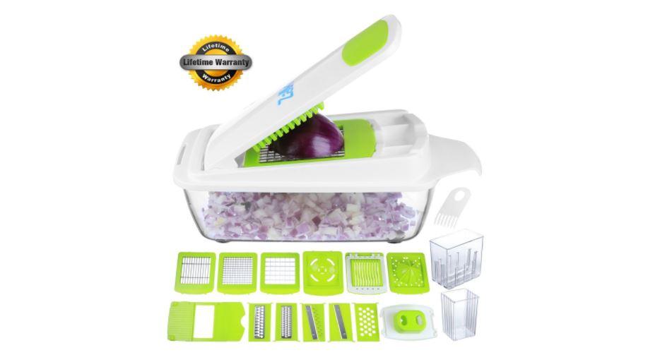 Zalik vegetable slicer mandolin and fry maker tool available on Amazon click here