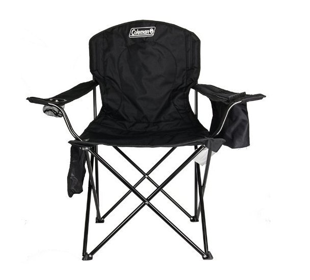 camping supplies Amazon sells Coleman Oversized Quad Chair with Cooler