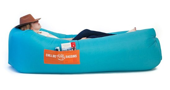 best camping gear on Amazon Chillbo Baggins 2.0 Inflatable Lounger Hammock