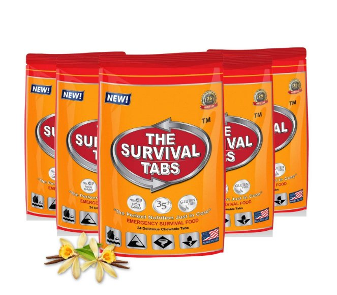 Emergency Food Survival Tabs 10-Day