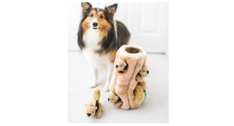 Product photo of Hide-A-Squirrel Puzzle Plush.