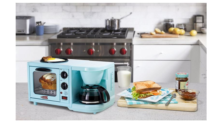 Elite Cuisine EBK Maxi-Matic 3-in-1 Multifunction Breakfast Center available on Amazon click here