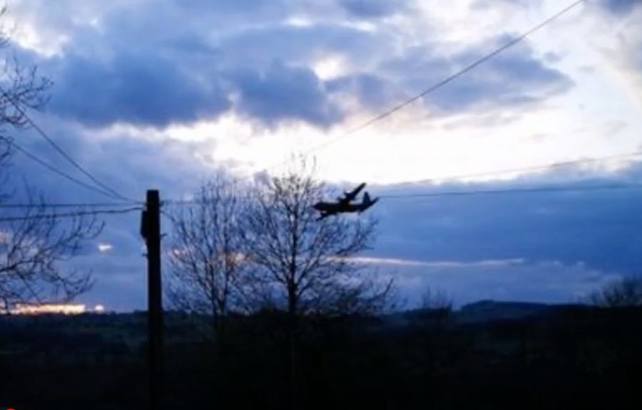 ghost plane glides silently over Derbyshire