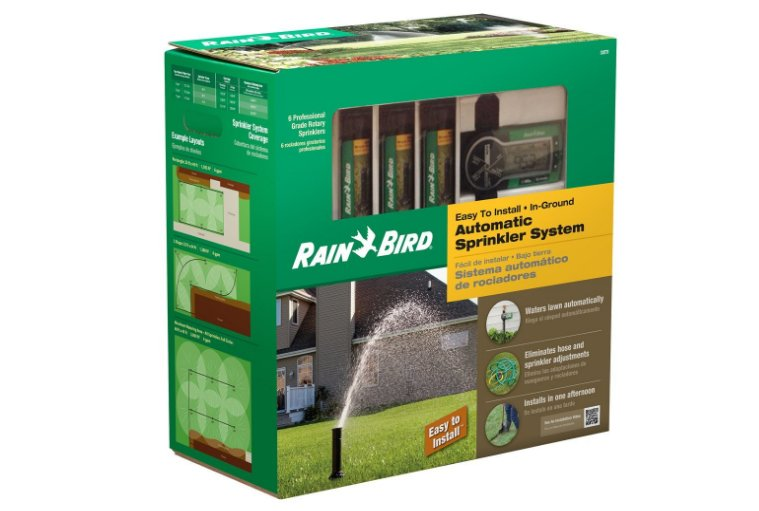 Rain Bird Automatic Sprinkler System.