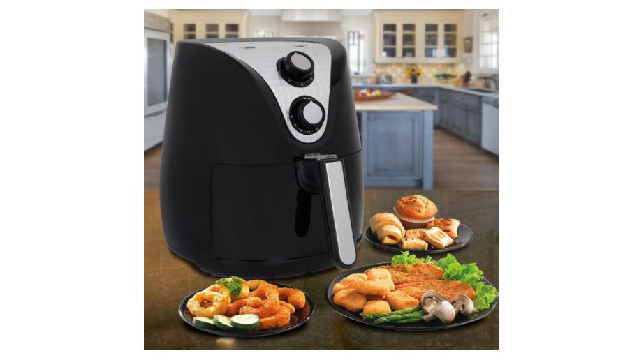 SUPER DEAL Electric Air Fryer XL 3.7 Quart W/ Recipe Cookbook, Timer, Temperature Control , Detachable Dishwasher Safe Basket, Fry Healthy with 80% Less Fat available on Amazon click here