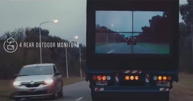 Ingenious idea from Samsung for safe overtaking