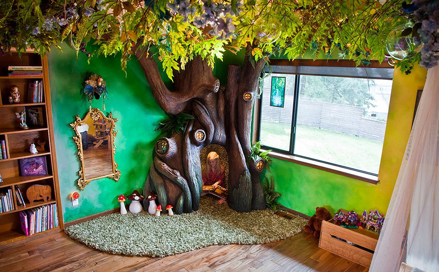 This Dad Spent 18 Months Building His Daughter A Fairy Tree House In Her Room