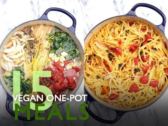 15 vegan one-pot dinners for no-fuss, low-mess meals in a flash