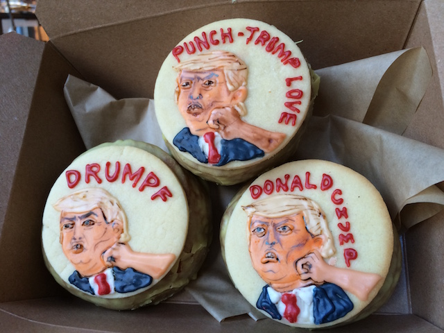 """NYC Vegans Selling """"Donald Trump Getting Punched In The Face"""" Donuts"""