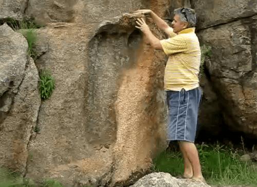 200 Million Year Old Gigantic Footprint