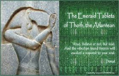 Emerald Tablets Of Thoth, 50,000 Year Old Tablets Reportedly From Atlantis