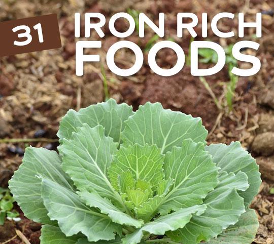 31 Iron Rich Foods for Vegetarians & Vegans