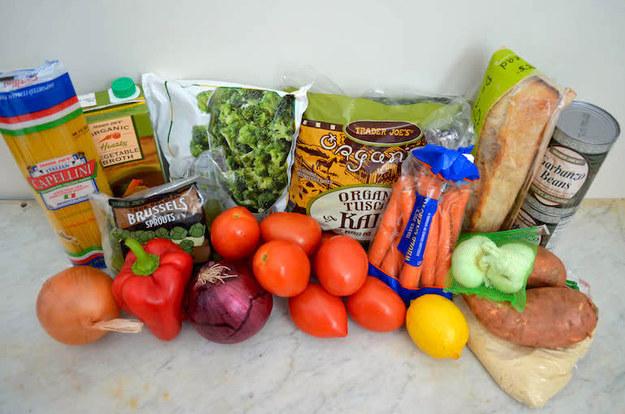 1 Trip To Trader Joe's + $20 = 5 Easy Vegan Dinners