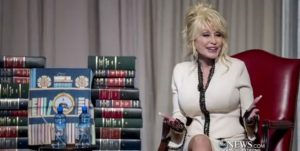 "Dolly Parton has been called a lot of things in her life; actress, singer, songwriter, but the one she values most is ""book lady."" dolly parton book donation library of congress"