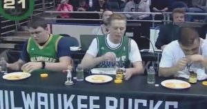 Photo: Milwaukee Bucks tasting vegemite.
