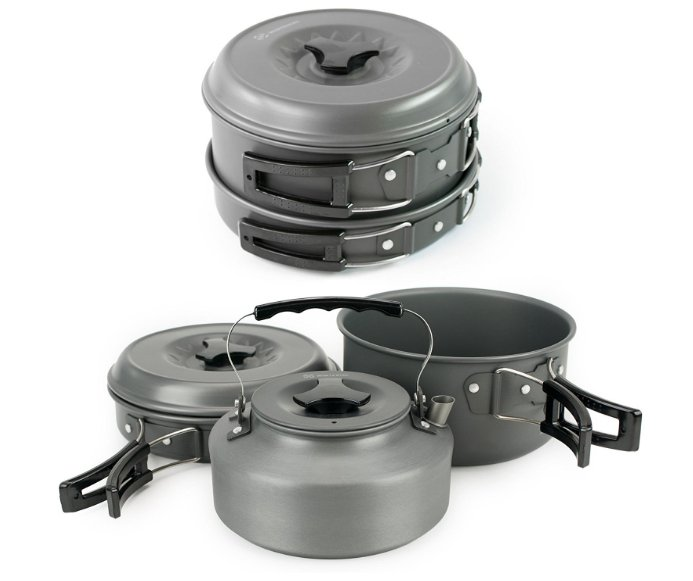 Camping Cookware and Pot Set