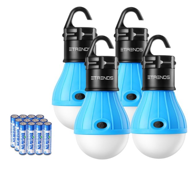 E-TRENDS Four Pack Portable LED Tent Light