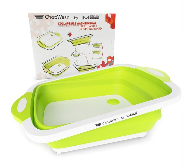ChopWash Collapsible Dish Tub and Cutting Board