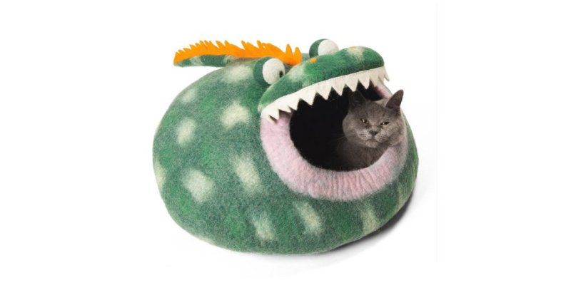 Product photo: Twin Critters - Handcrafted Cat Cave Bed