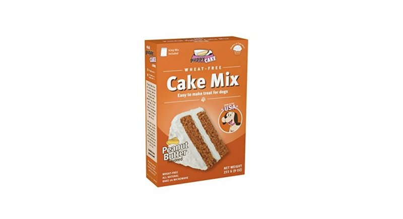 Product photo of wheat free dog baking mix available on Amazon