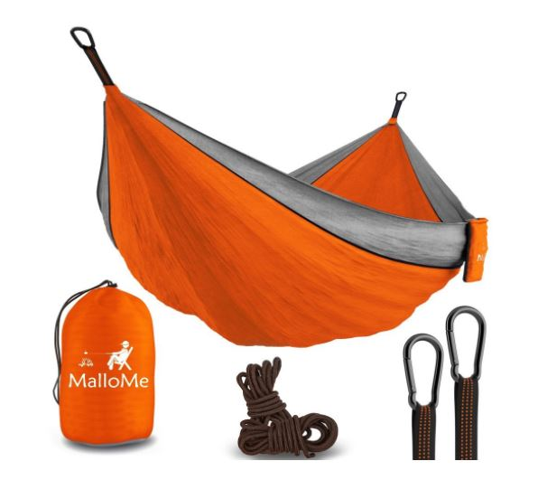 XL Double Parachute Camping Hammock - Tree Portable with Max 1000 lbs Breaking Capacity - Lightweight Carabiners and Ropes Included For Backpacking, Camping...