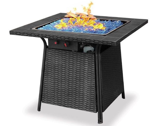 Blue Rhino Endless Summer Blue Glass Fire Pit