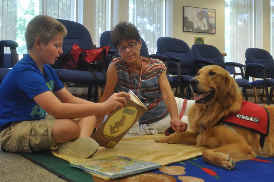 For unconditional love and support, there's nothing like a dog. therapy dogs in schools and helping